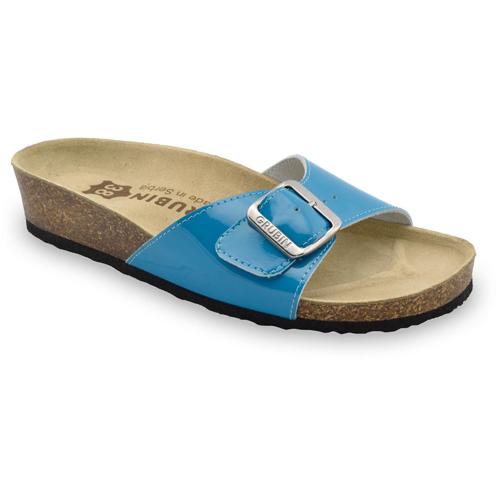 MADRID Kožené dámske papuče (36-42) - modrá, 40