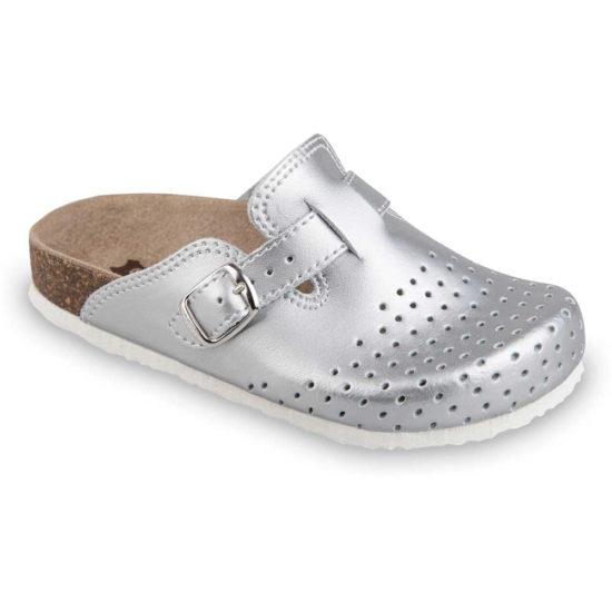 RIM Kožené detské uzatvorené papuče (27-35)