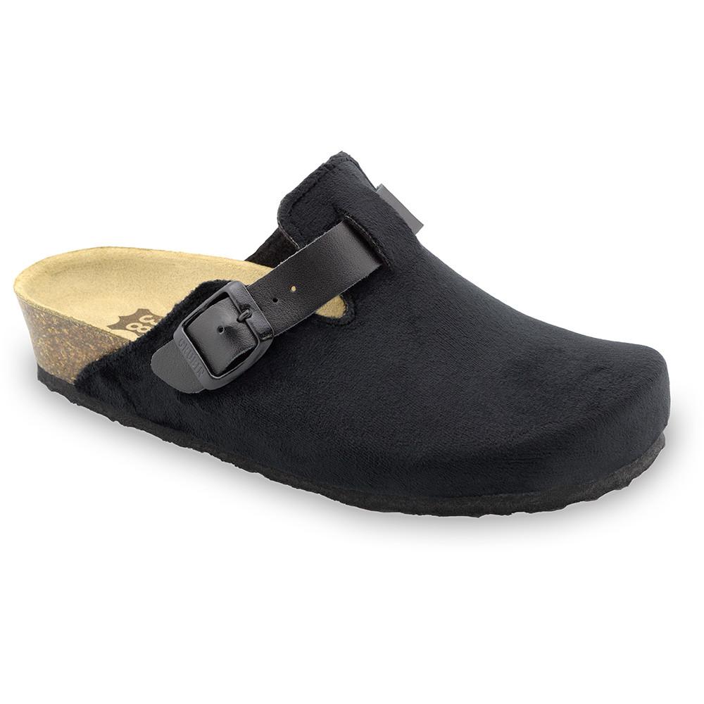RIM domáca zimná obuv pre dámy - pliš (36-42) - čierna, 37