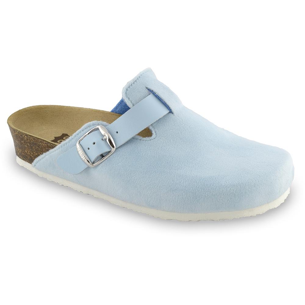 RIM domáca zimná obuv pre dámy - pliš (36-42) - bledomodrá, 40