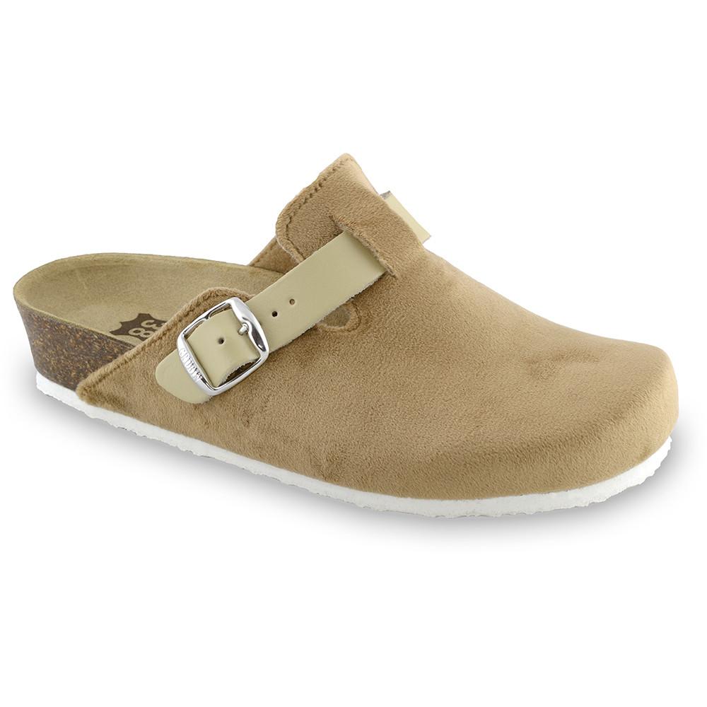 RIM domáca zimná obuv pre dámy - pliš (36-42) - hnedá, 41