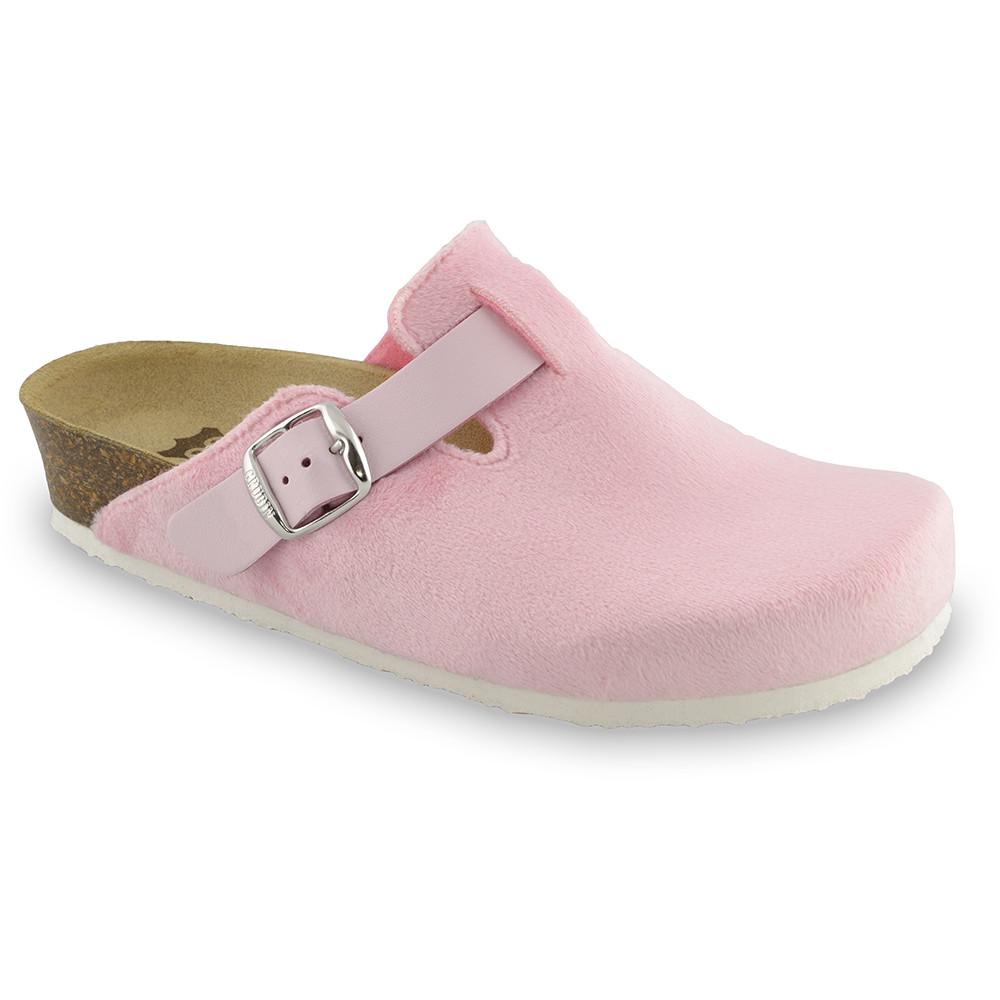 RIM domáca zimná obuv pre dámy - pliš (36-42) - svetloružová, 37