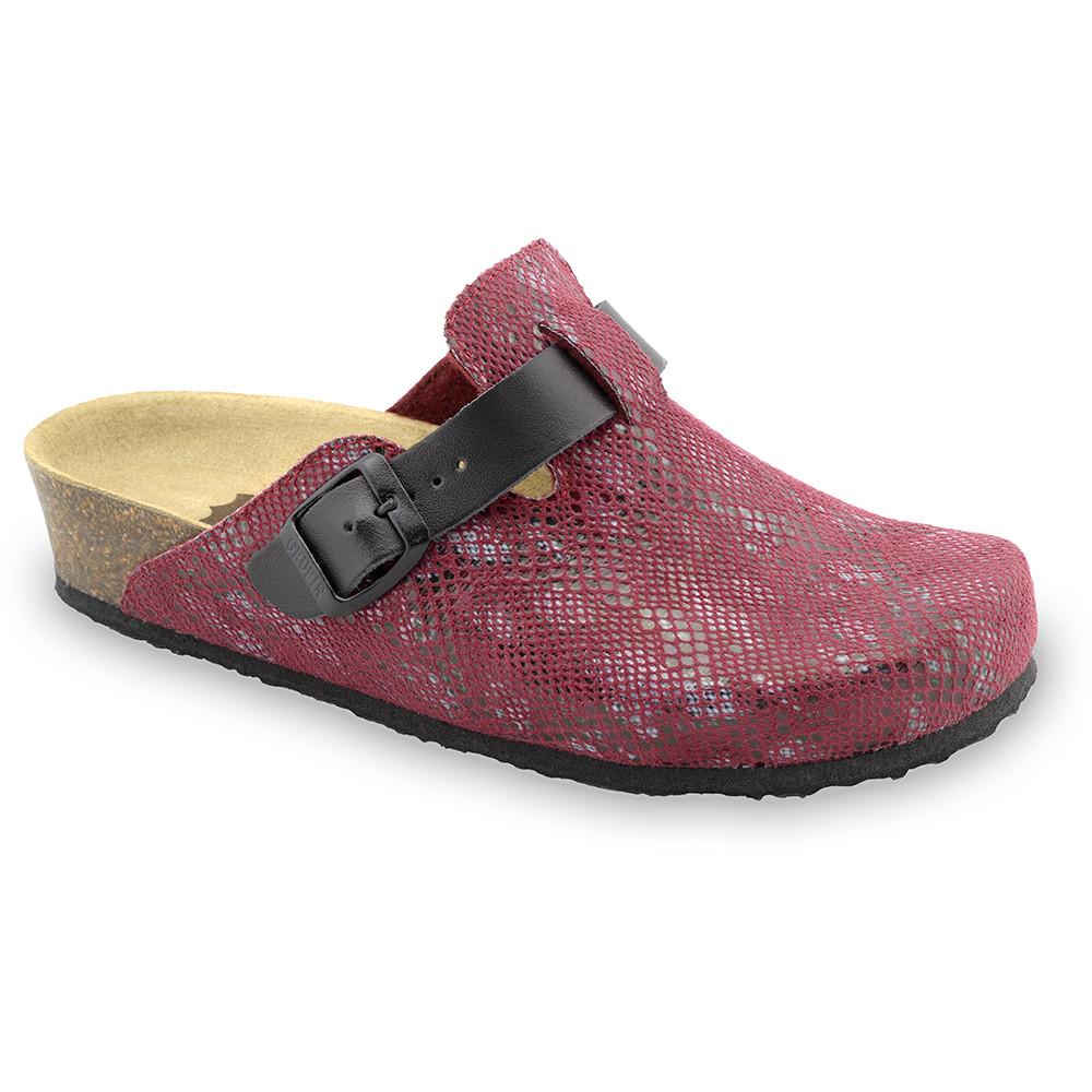 RIM domáca zimná obuv pre dámy - pliš (36-42) - červená, 42