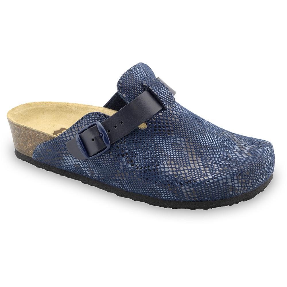 RIM domáca zimná obuv pre dámy - pliš (36-42) - modrá, 42