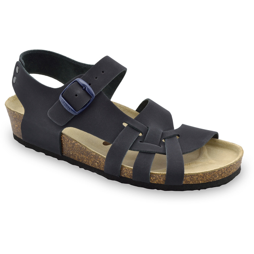 PISA Kožené dámske sandále (36-42) - modrá-mat, 41