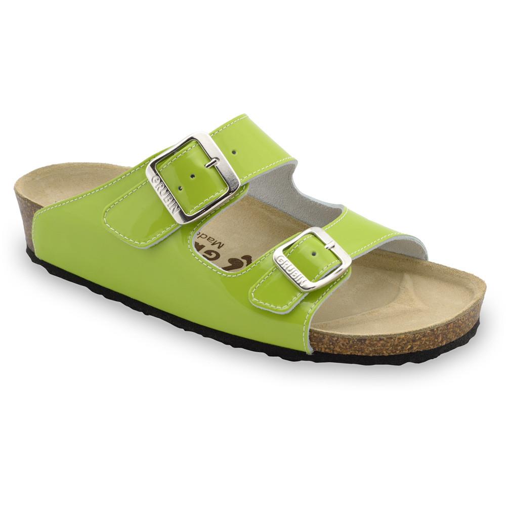 Kairat Kožené dámske papuče (36-42) - zelená, 36