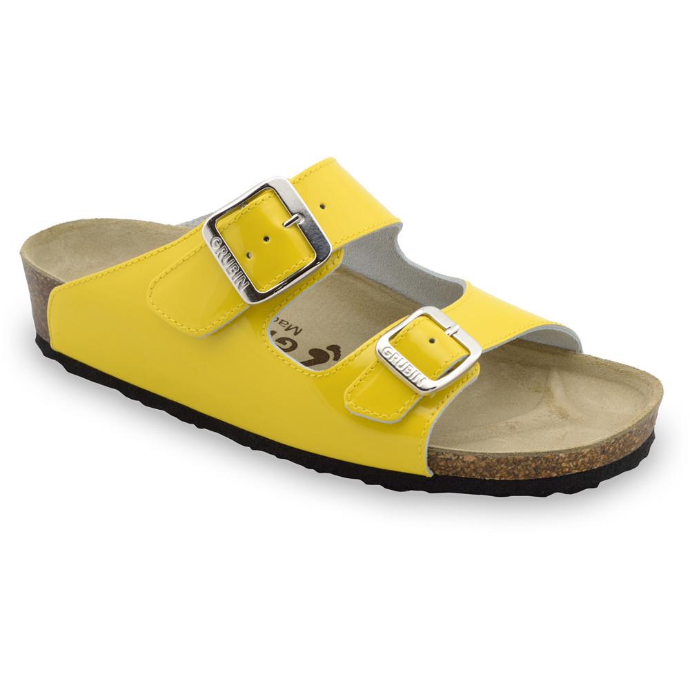 Kairat Kožené dámske papuče (36-42) - žltá, 41