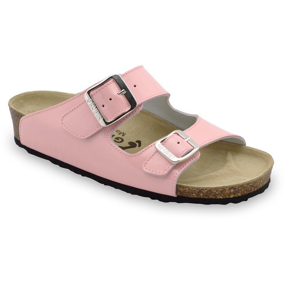 Kairat Kožené dámske papuče (36-42) - svetloružová, 40