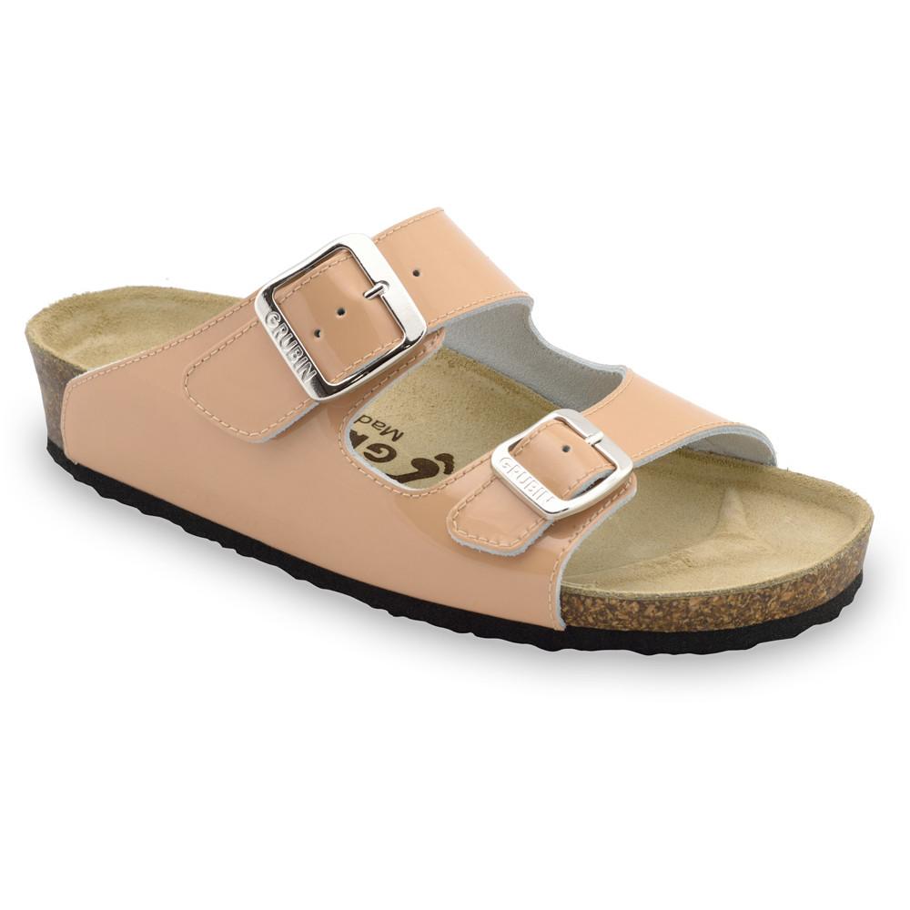Kairat Kožené dámske papuče (36-42) - púder, 37