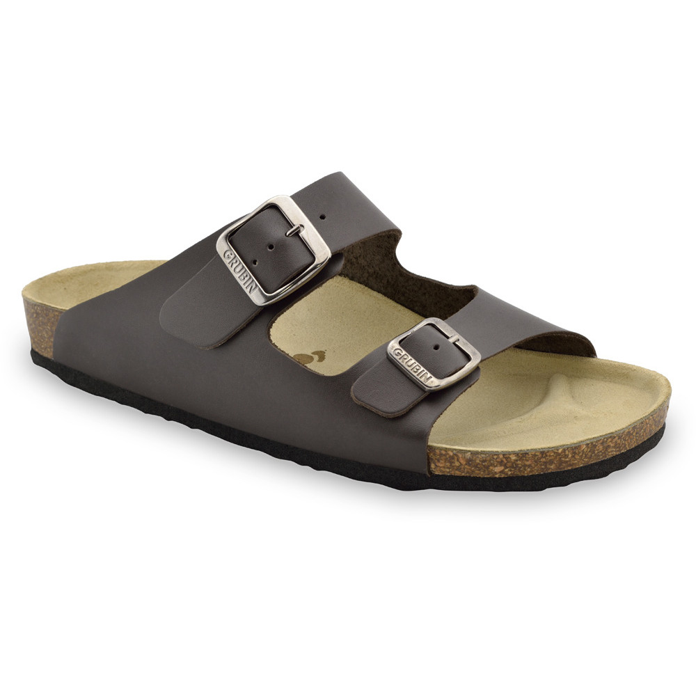 KAIRO papuče pre pánov - koža (40-49) - hnedá, 41