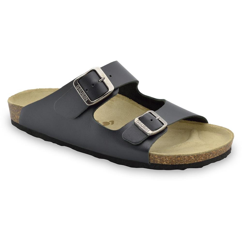 KAIRO papuče pre pánov - koža (40-49) - čierna, 40