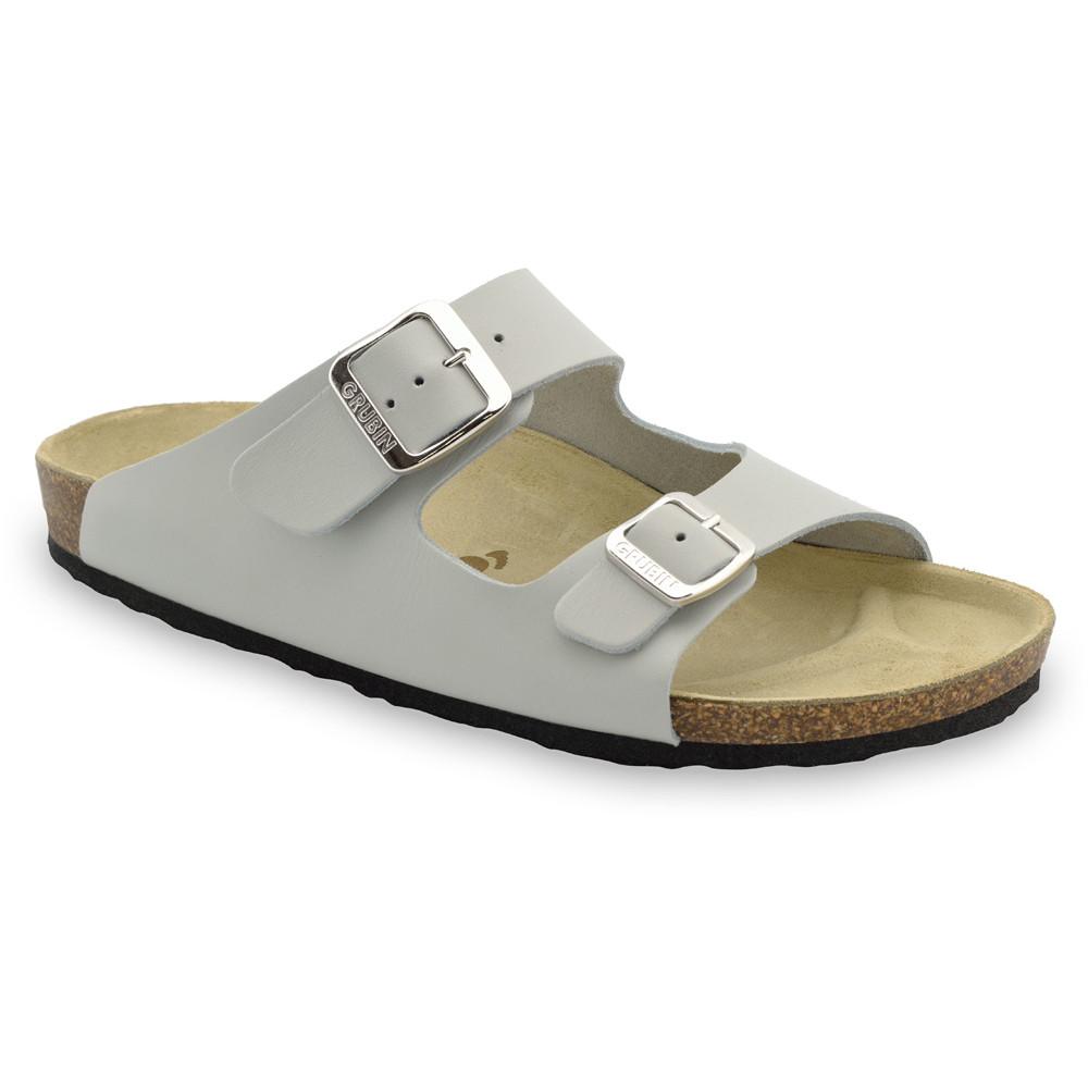 KAIRO papuče pre pánov - koža (40-49) - sivá, 49