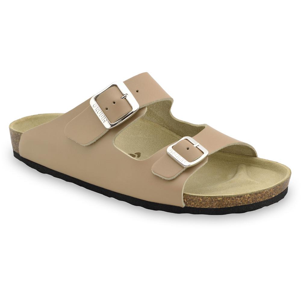 KAIRO papuče pre pánov - koža (40-49) - svetlohnedá, 45