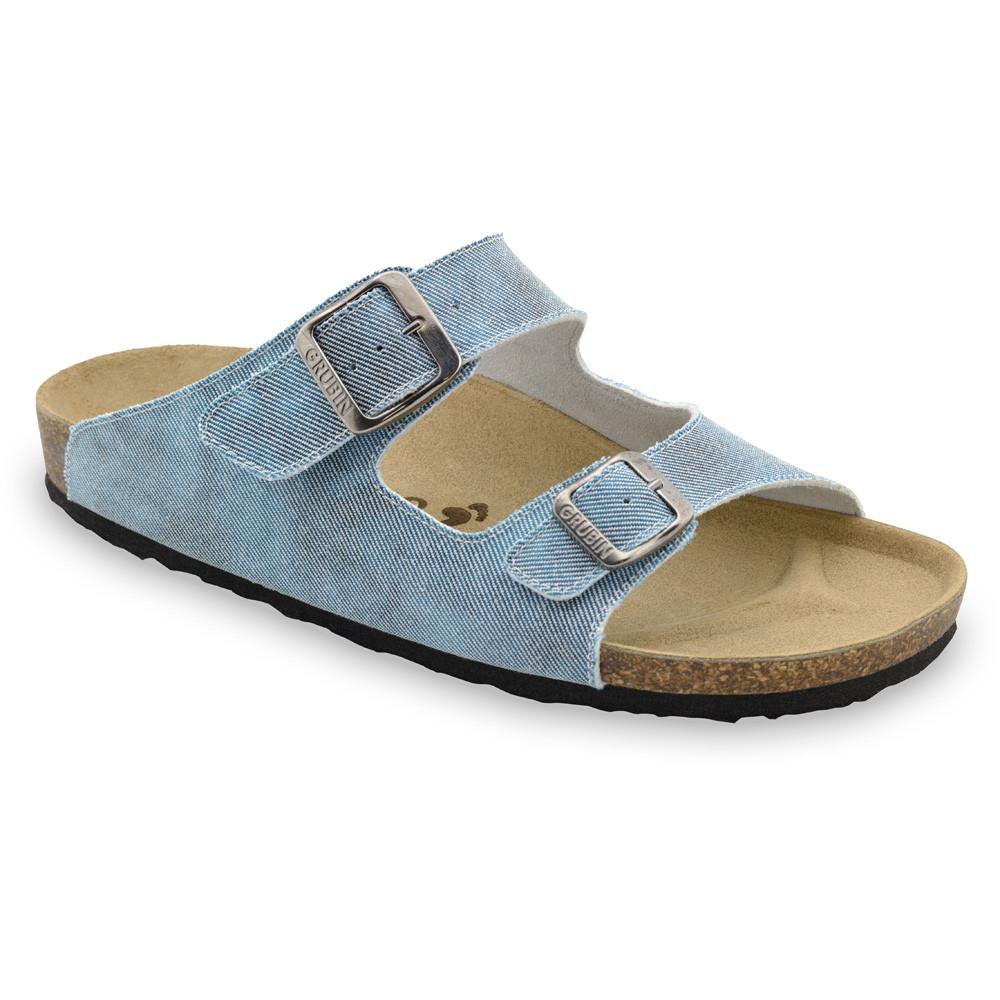 KAIRO papuče pre pánov - tkanina (40-49) - bledomodrá, 40