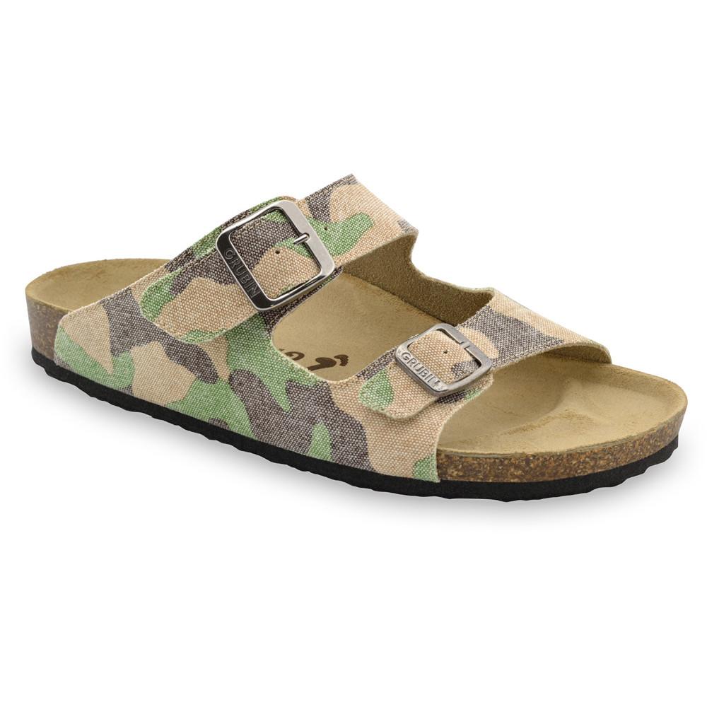 KAIRO papuče pre pánov - tkanina (40-49) - vojenská, 49