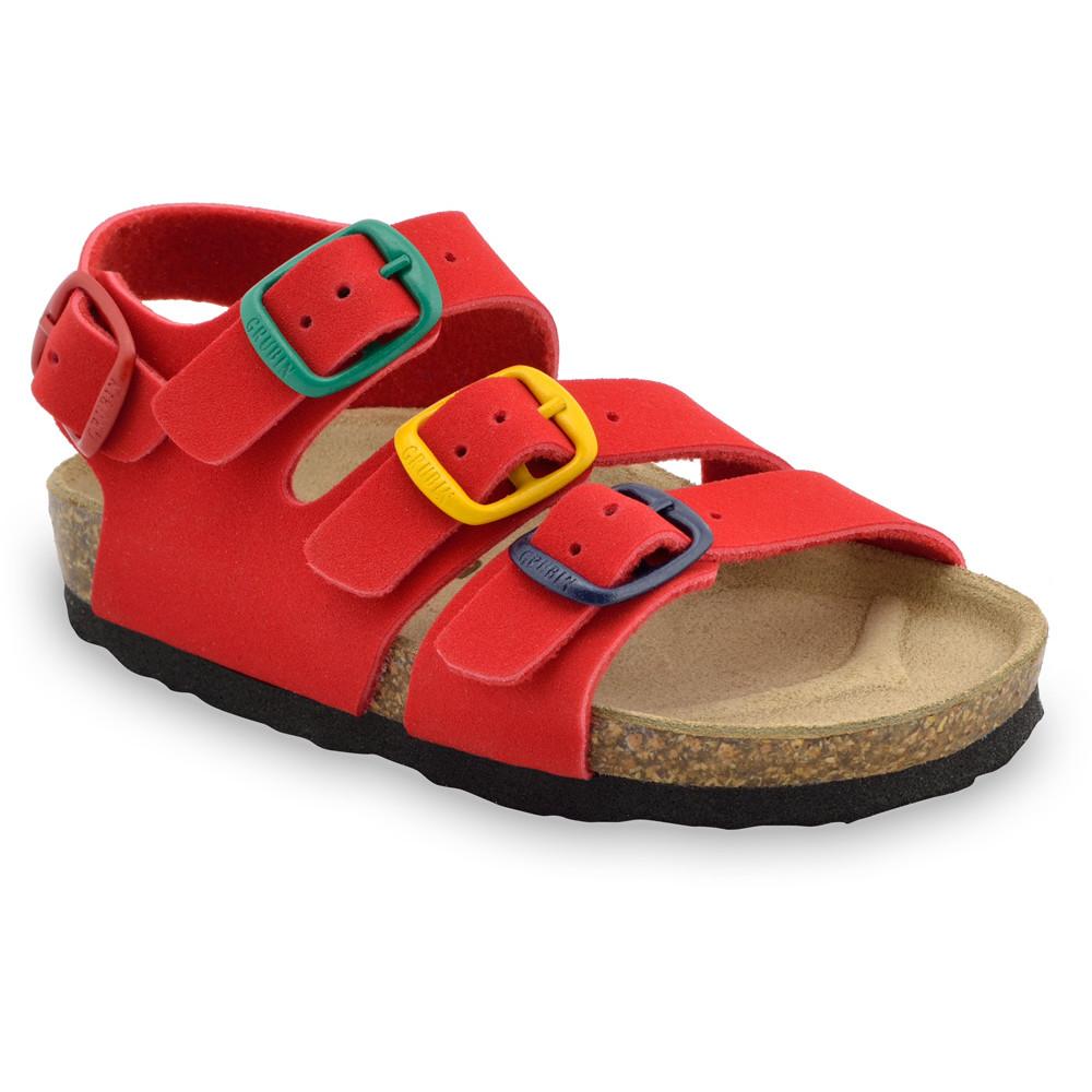 CAMBERA sandále pre deti - koženka (30-35) - červená, 34