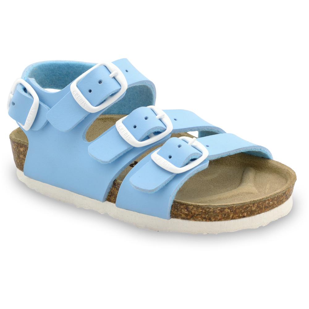CAMBERA sandále pre deti - koženka (30-35) - bledomodrá, 32