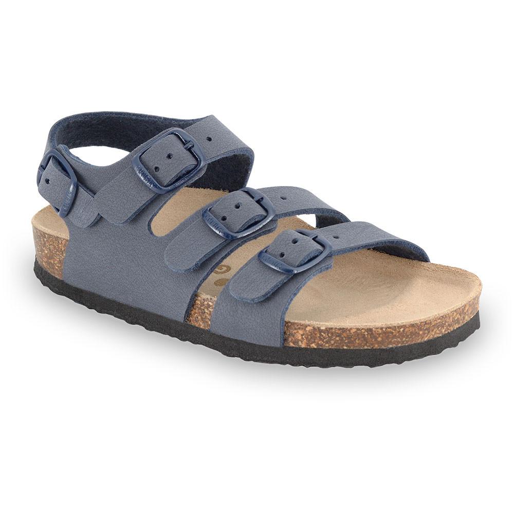 CAMBERA sandále pre deti - koženka (30-35) - tmavosivá, 30