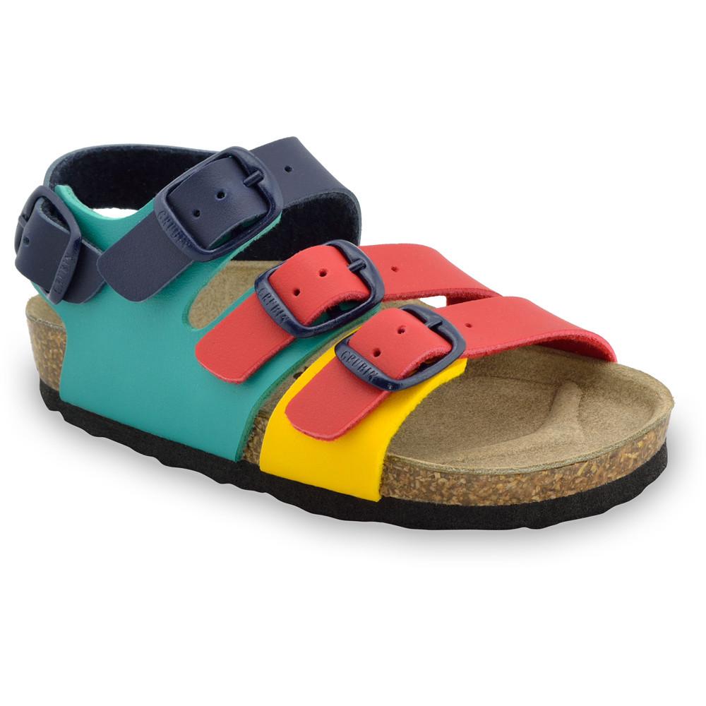 CAMBERA sandále pre deti - koženka (30-35) - farebná, 31