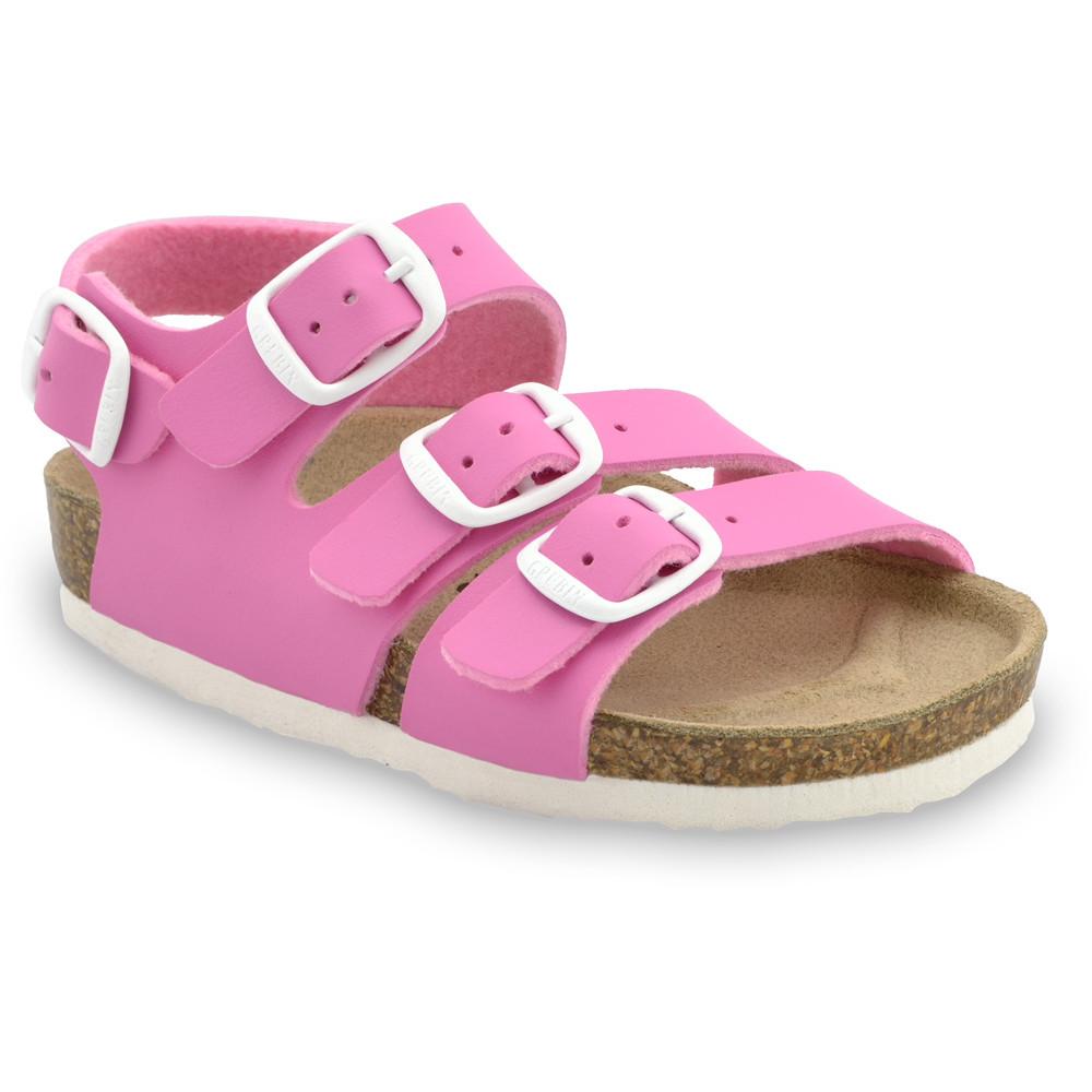 CAMBERA sandále pre deti - koženka (30-35) - ružová, 30