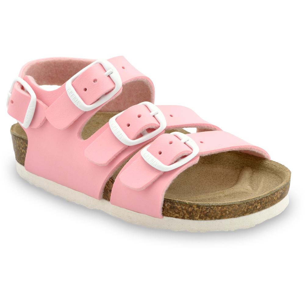 CAMBERA sandále pre deti - koženka (30-35) - svetloružová, 33