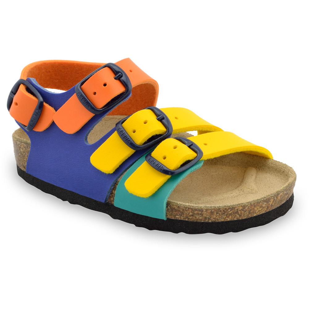 CAMBERA sandále pre deti - koženka (30-35) - žltá, 30