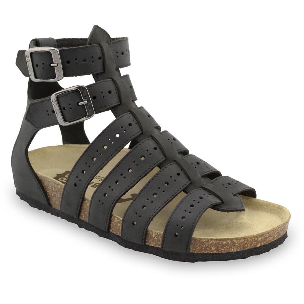ATINA sandále pre dámy - koža (36-42) - čierna, 39