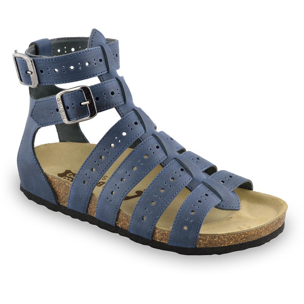 ATINA sandále pre dámy - koža (36-42) - modrá, 36