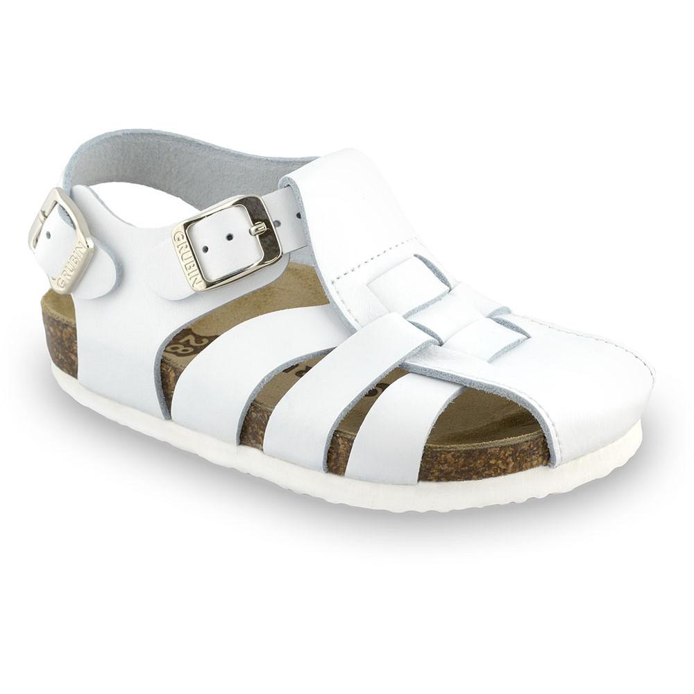 PAPILIO sandále pre deti - koža (23-30) - biela, 26