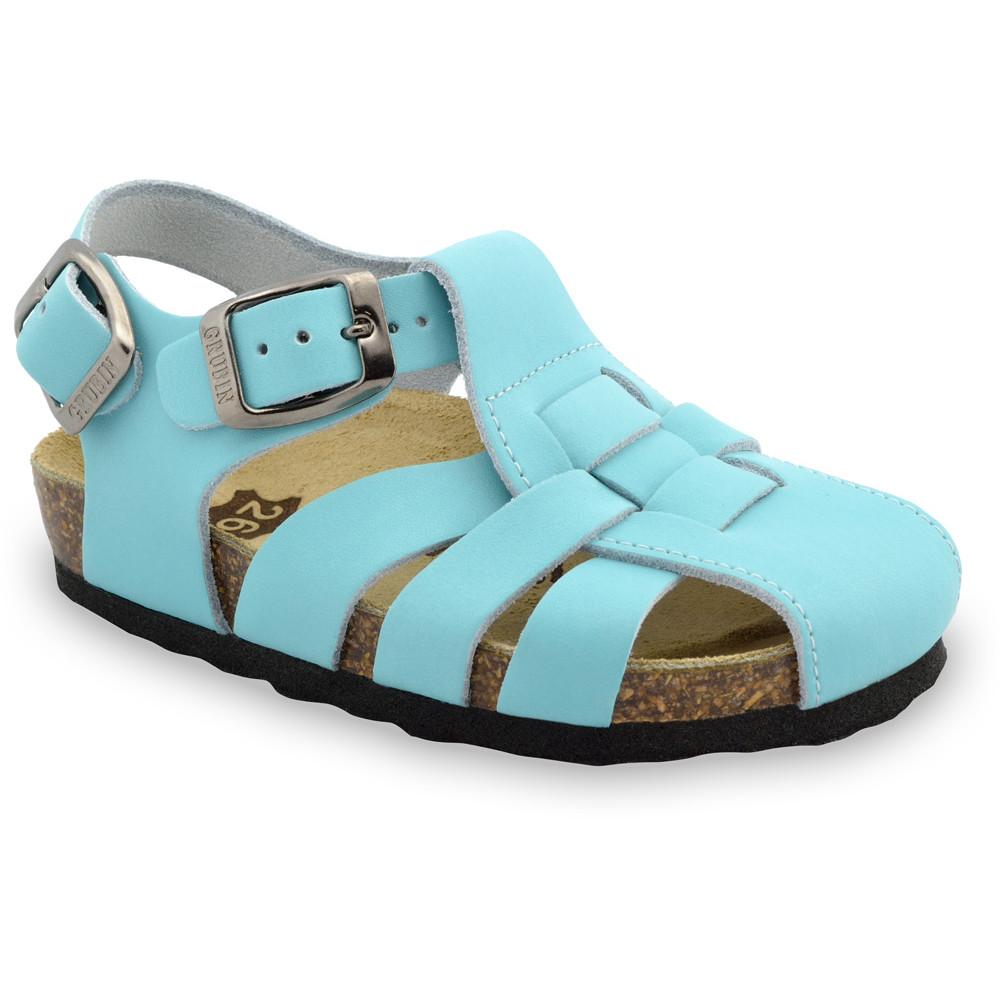PAPILIO sandále pre deti - koža (23-30) - bledomodrá, 30