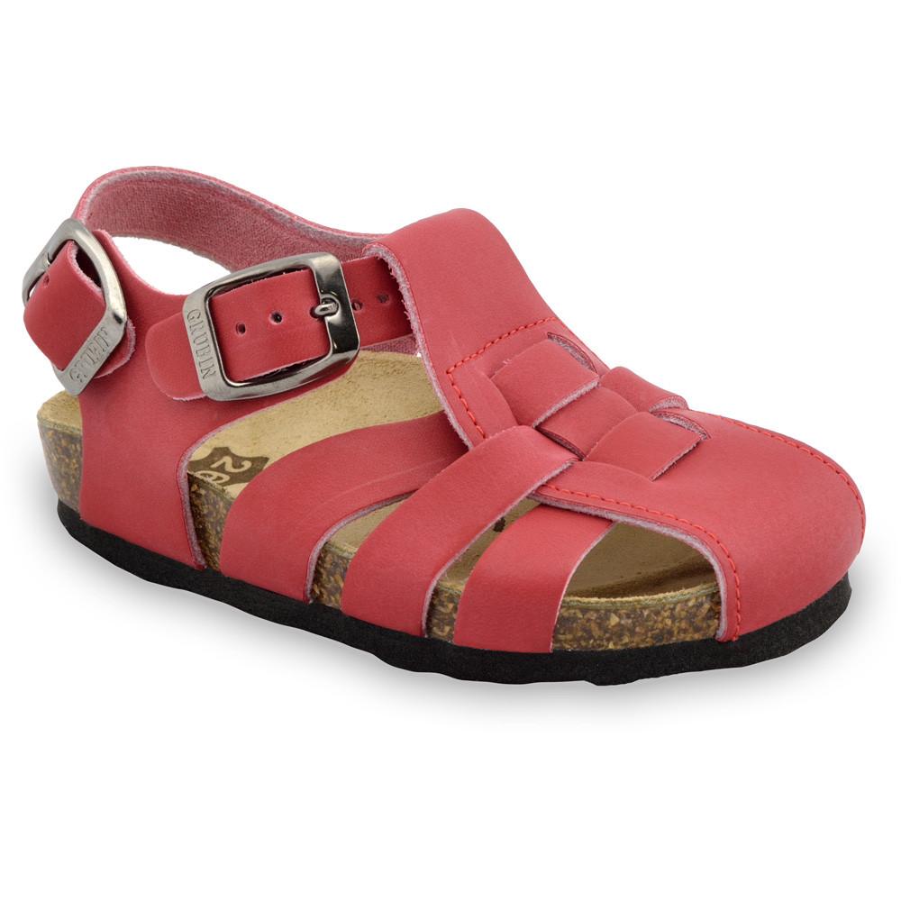 PAPILIO sandále pre deti - koža (23-30) - červená, 29