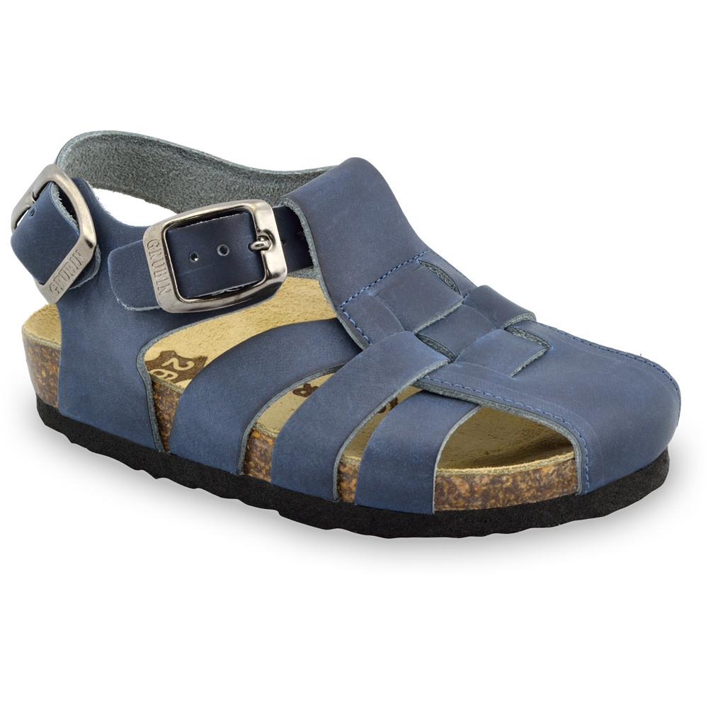 PAPILIO sandále pre deti - koža (23-30) - modrá, 26