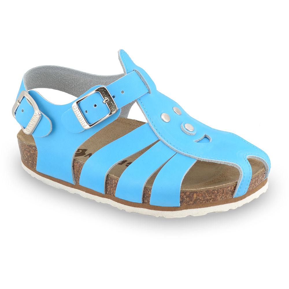 FUNK sandále pre deti - koža (23-30) - modrá, 26