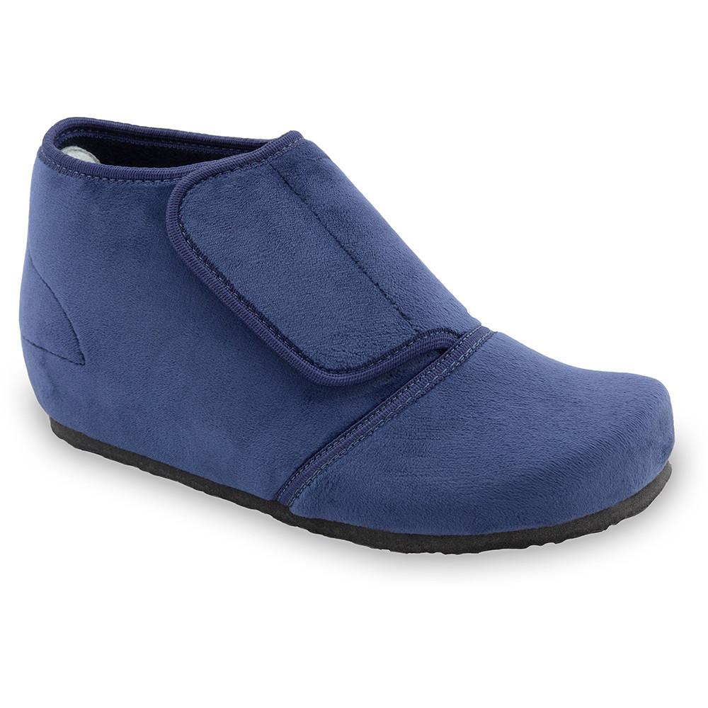 BAJKA domáca zimná obuv pre dámy - pliš (36-42) - modrá, 39