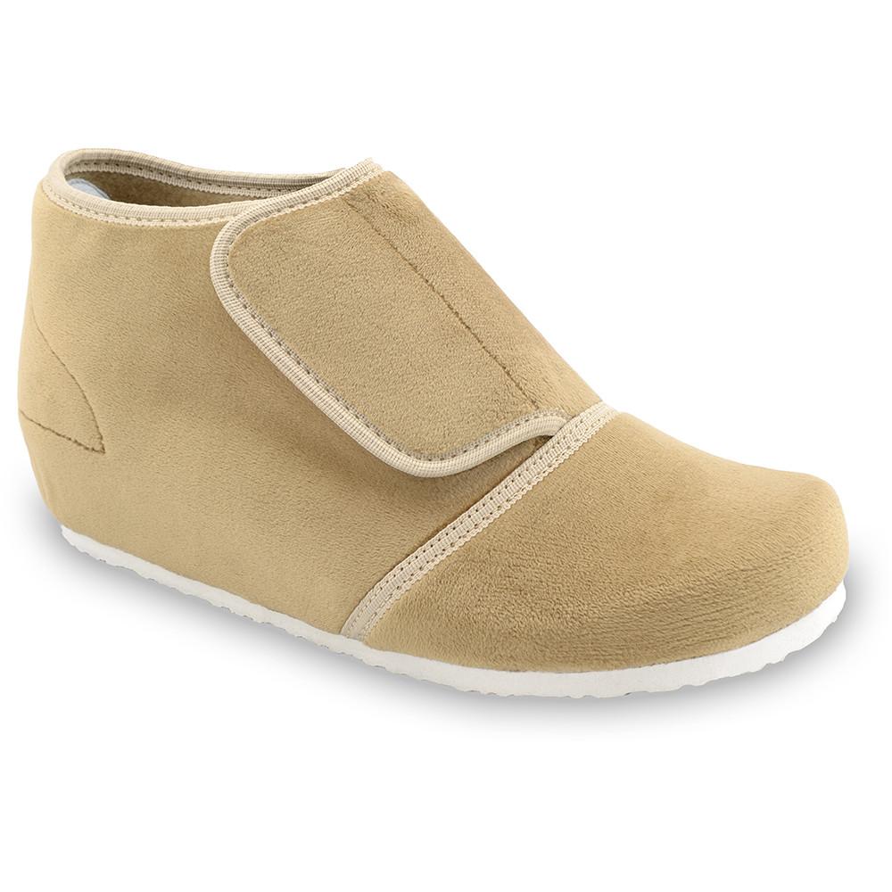 BAJKA domáca zimná obuv pre dámy - pliš (36-42) - svetlohnedá, 38