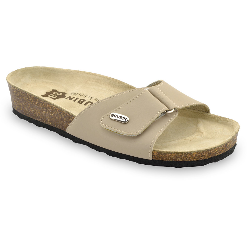 BRIGITTE Kožené dámske papuče (36-42)