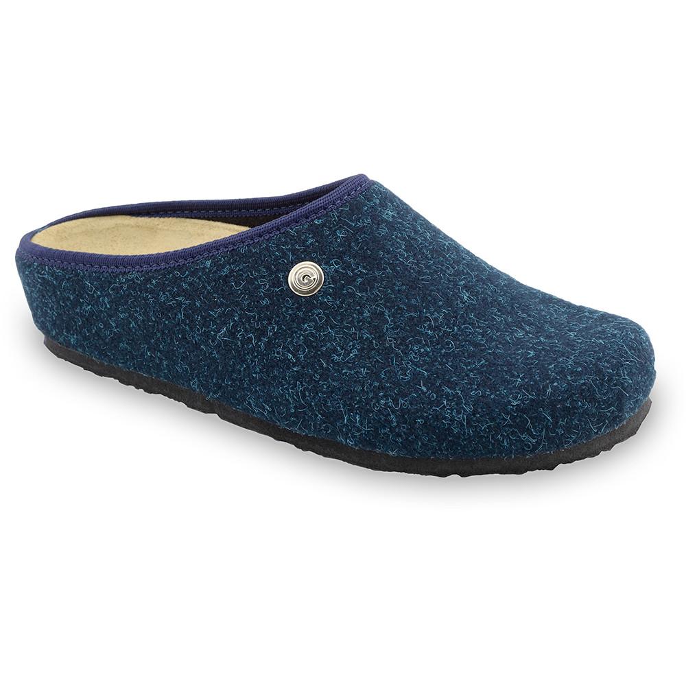 RABBIT domáca zimná obuv pre dámy - plsť (36-42) - modrá-mat, 41