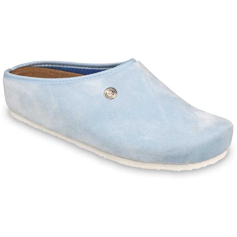 RABBIT domáca zimná obuv pre dámy - pliš (36-42) - bledomodrá, 40