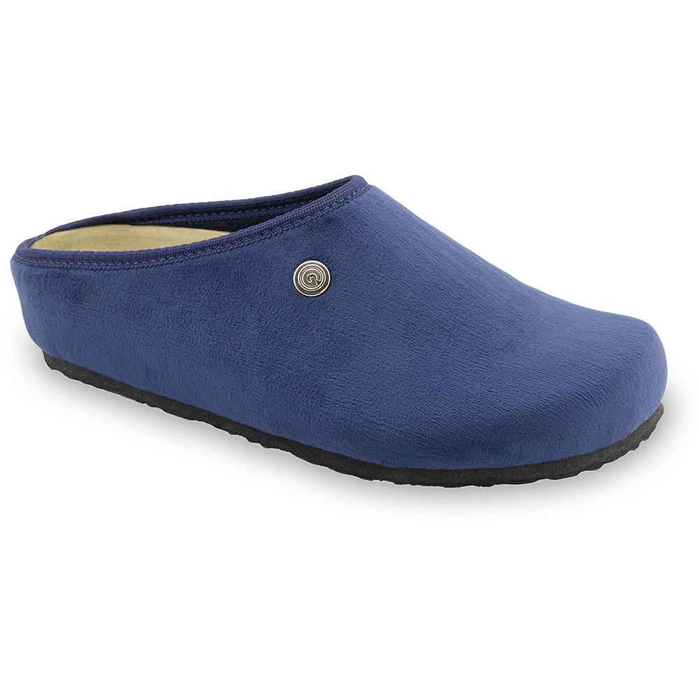 RABBIT domáca zimná obuv pre dámy - pliš (36-42) - modrá, 36