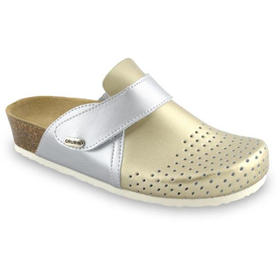 OREGON papuče uzavreté pre dámy - koža kast (36-42)