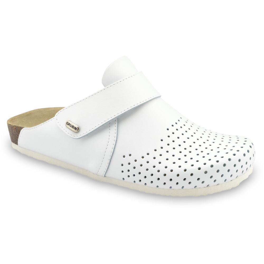 OREGON papuče uzavreté pre pánov - koža (40-49) - biela, 40