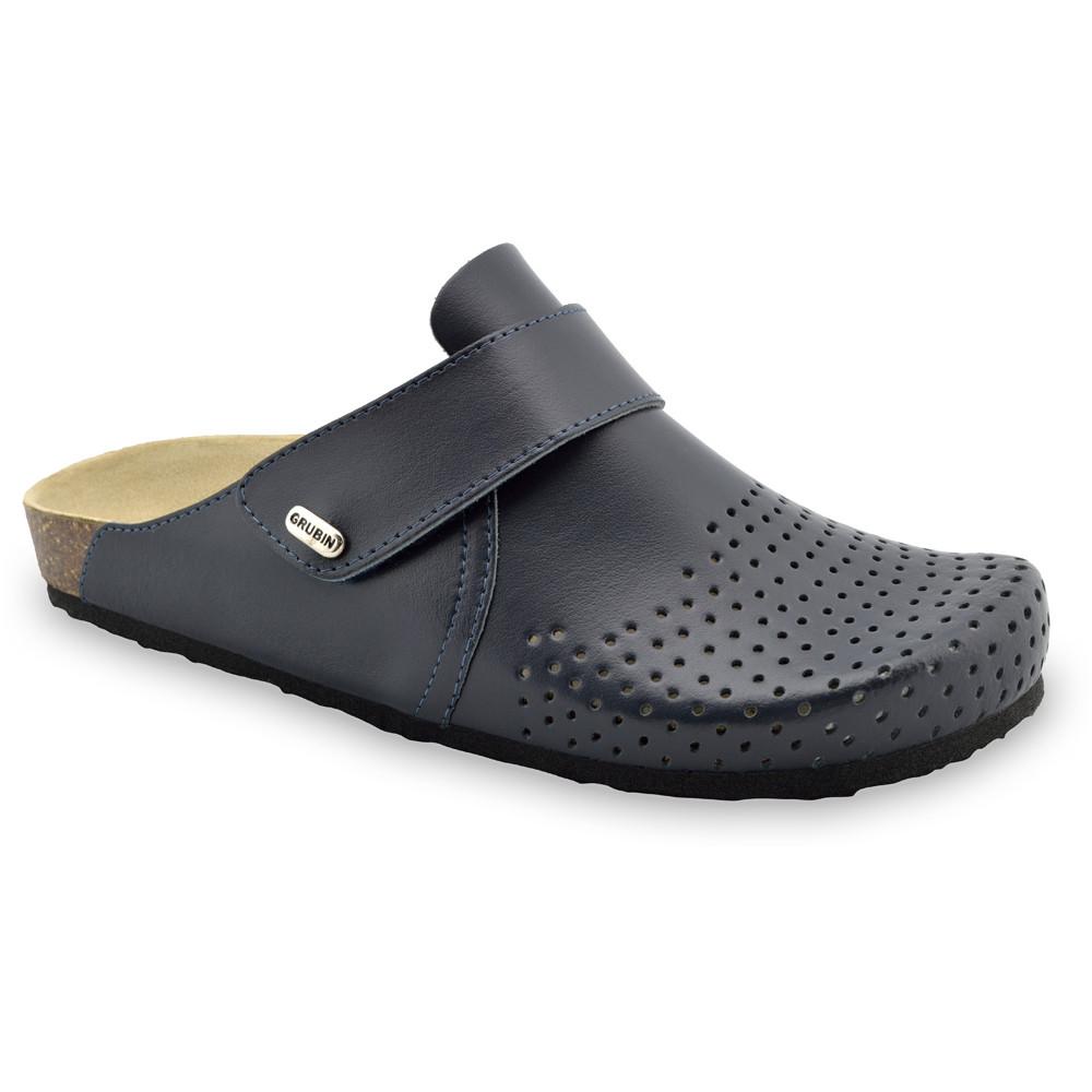 OREGON papuče uzavreté pre pánov - koža (40-49) - modrá-mat, 44