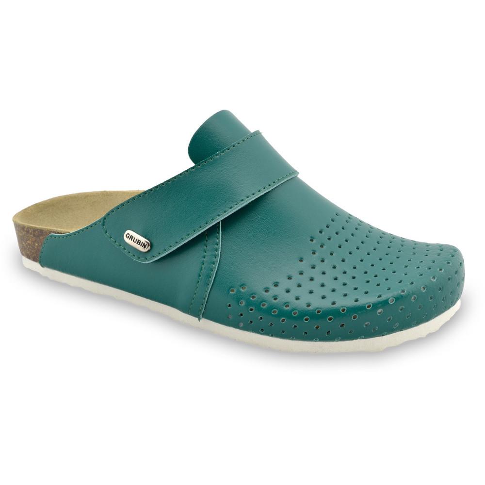 OREGON papuče uzavreté pre pánov - koža (40-49) - zelená, 47