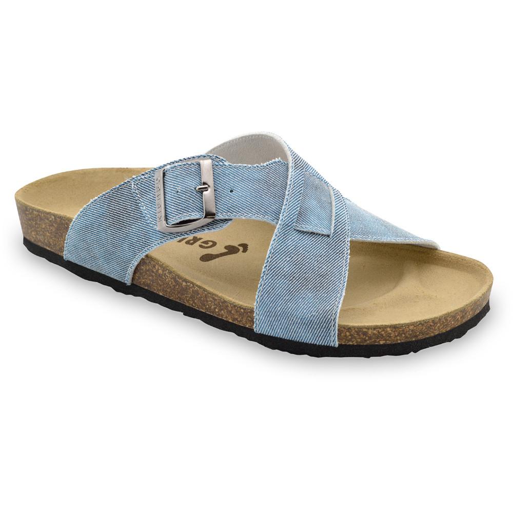 BORSALLINO papuče pre pánov - tkanina (40-49) - modrá, 40