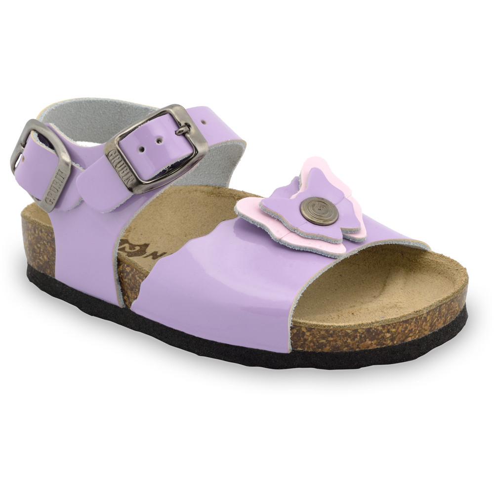 BUTTERFLY sandále pre deti - koža (30-35) - fialová, 33