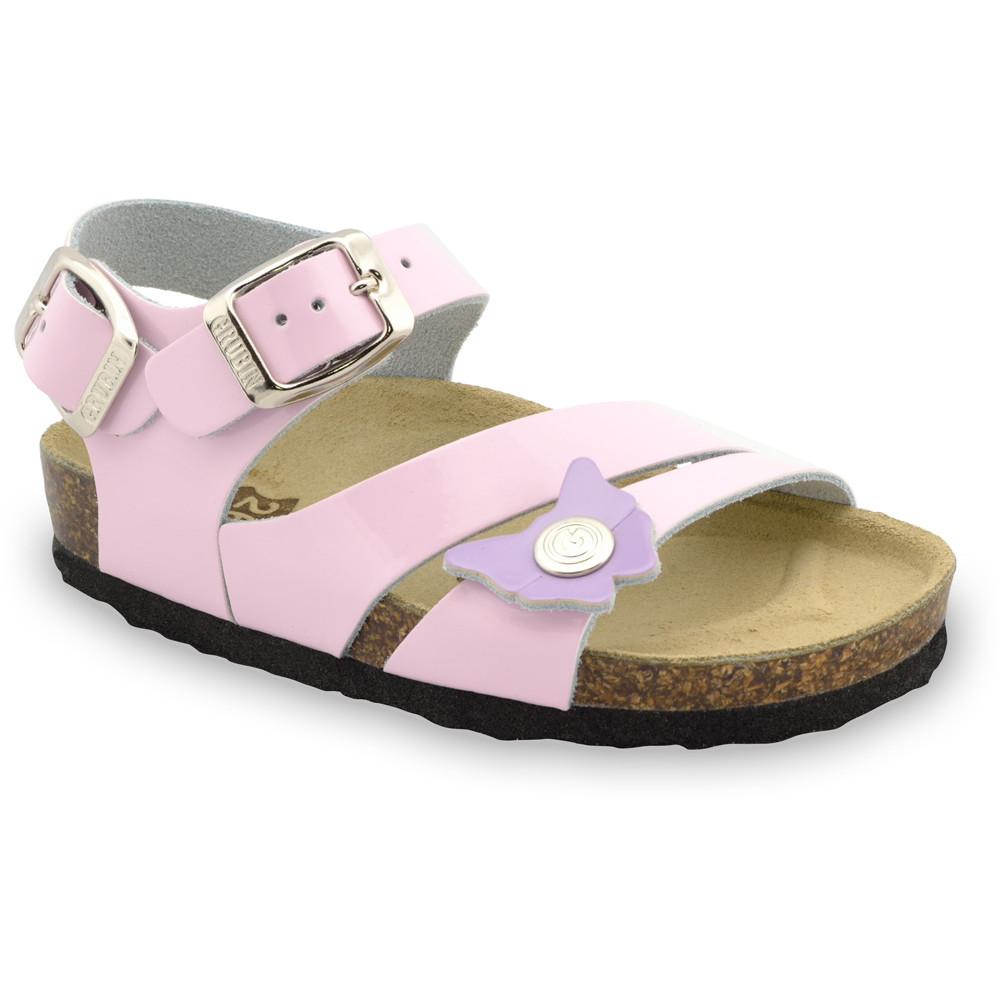 KATY sandále pre deti - koža (23-29) - ružová, 29