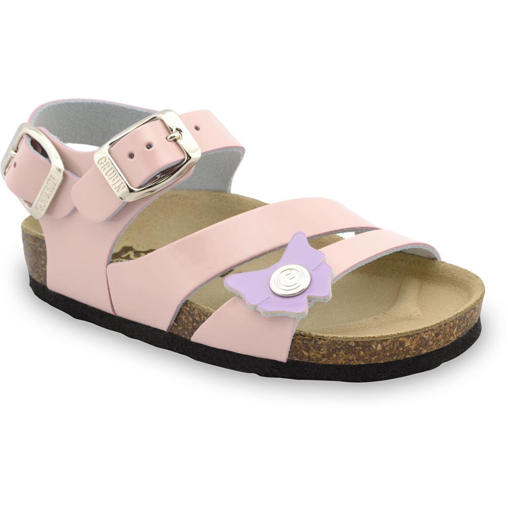 KATY sandále pre deti - koža (23-29) - krémová, 23