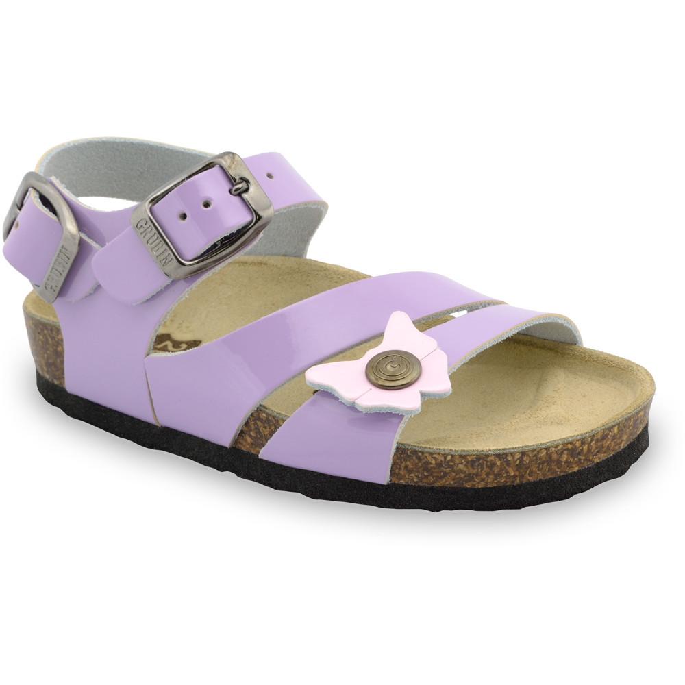 KATY sandále pre deti - koža (30-35) - fialová, 33