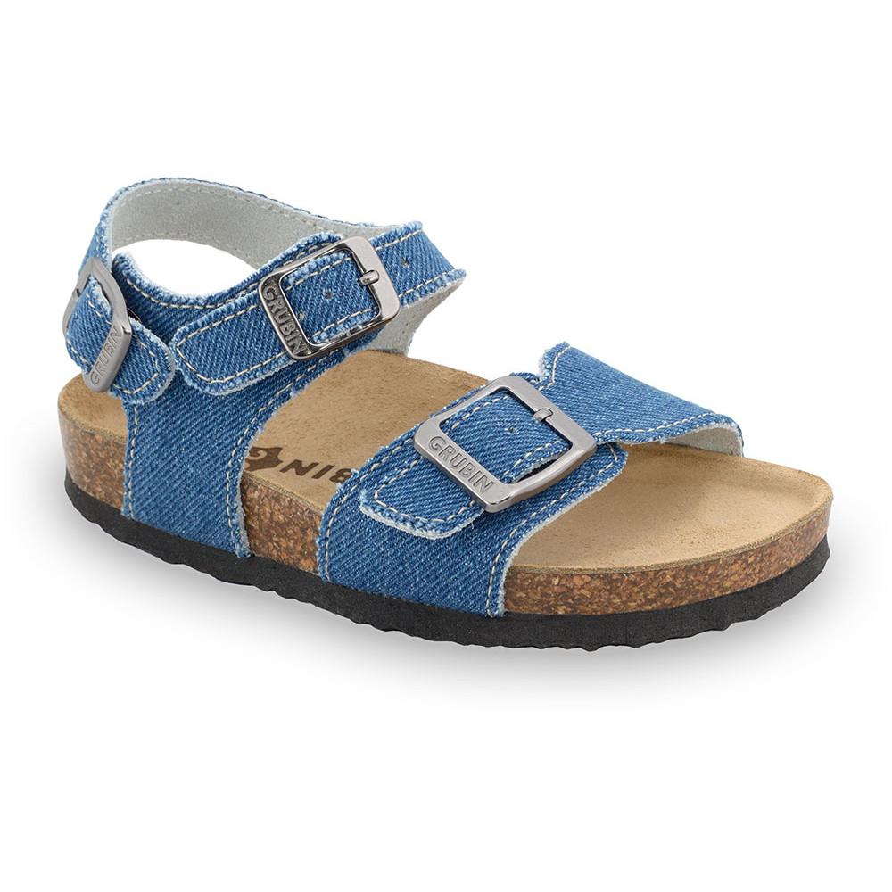 ROBY sandále pre deti - tkanina (23-29) - modrá, 28