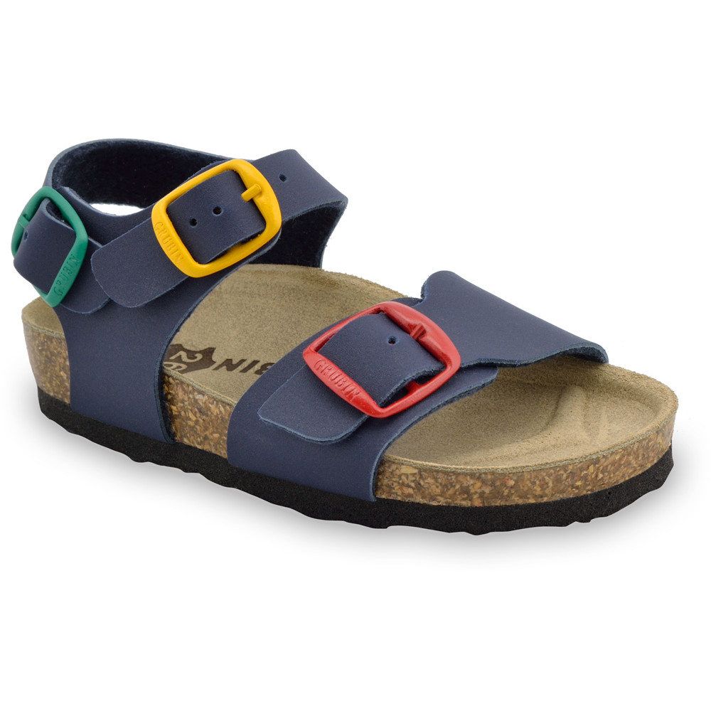 ROBY sandále pre deti - koženka (23-29) - modrá, 26
